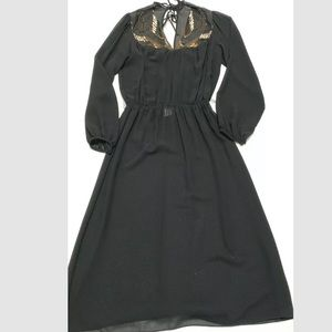 Casadei Vintage Beaded Neckline Dress